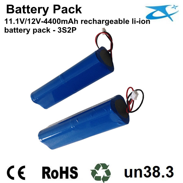 18650 li ion battery pack 12V 4400mAh