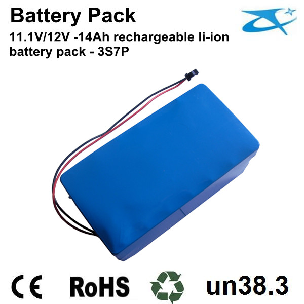 11.1V/12V 14Ah li-ion 18650 battery pack