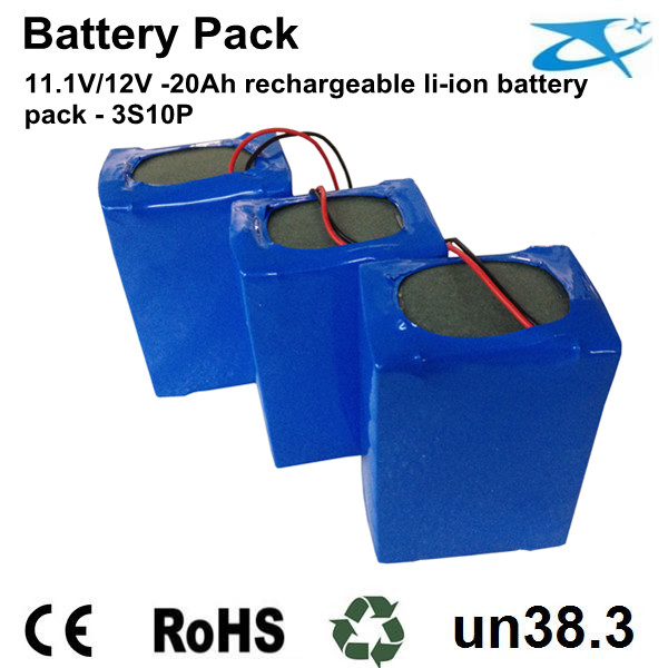 12V li-ion 20Ah 18650 battery pack