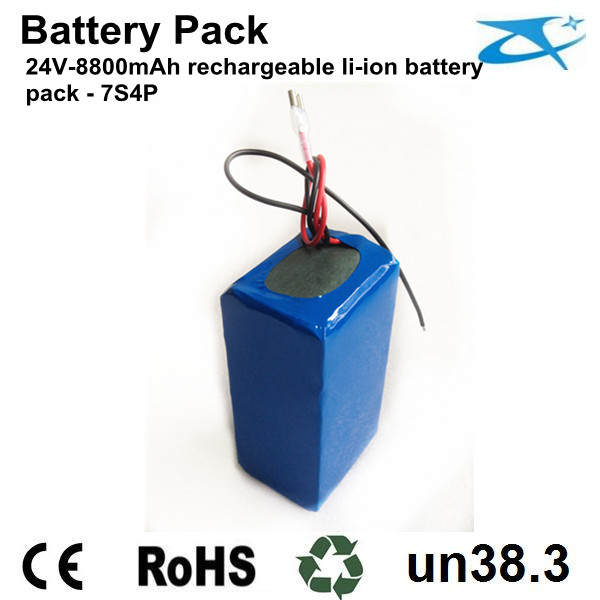 24V 18650 battery pack 8800mAh