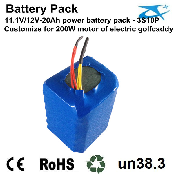 12V/30Ah golfcaddy battery pack