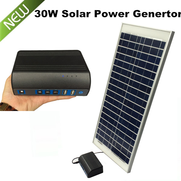 Portable 30W Solar Power System